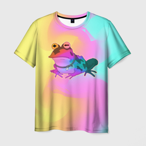 Мужская футболка 3D Кислотная Гипножаба Фото 01