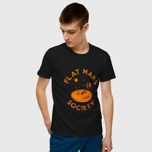 Мужская футболка хлопок Плоский Марс Фото 01