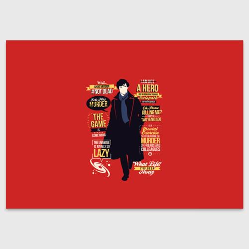 Поздравительная открытка Шерлок Холмс Фото 01