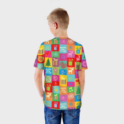 Детская футболка 3D  Фото 02, Новогодний поросенок
