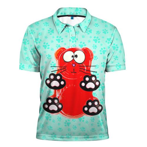 Мужская рубашка поло 3D Медвекот