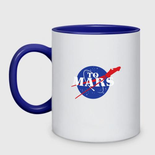 Кружка двухцветная На Марс Фото 01
