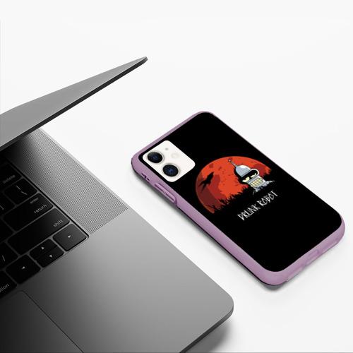 Чехол для iPhone 11 матовый Drunk Robot Фото 01