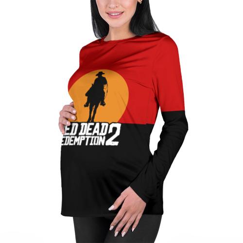 Женский лонгслив 3D для беременных Red Dead Redemption 2 Фото 01