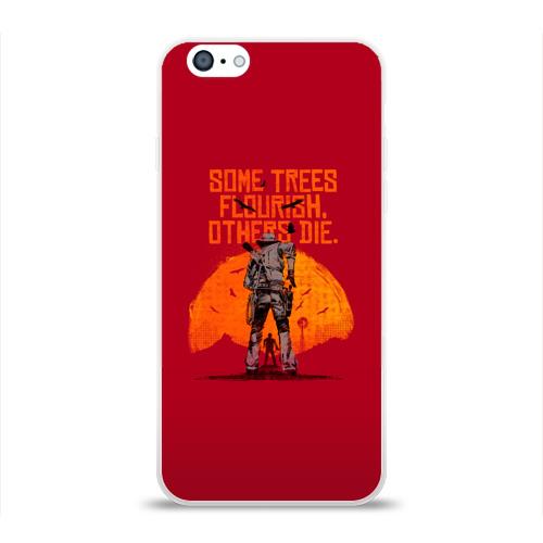 Чехол для Apple iPhone 6 силиконовый глянцевый Red Dead Redemption 2 Фото 01