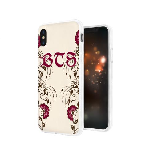 Чехол для Apple iPhone X силиконовый глянцевый BTS Фото 01