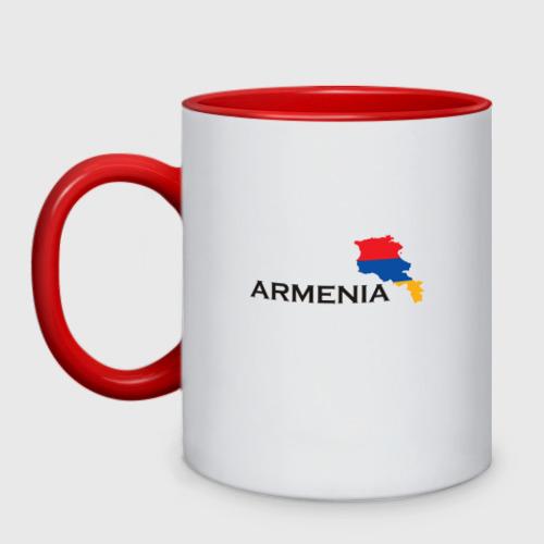 Кружка двухцветная Armenia