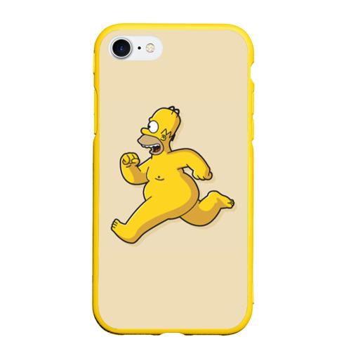 Чехол для iPhone 7/8 матовый Гомер на Пробежке Фото 01