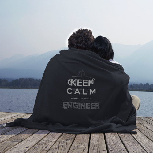 Плед 3D Keep Calm Engineer Фото 01
