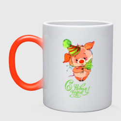 Свинка с ёлкой
