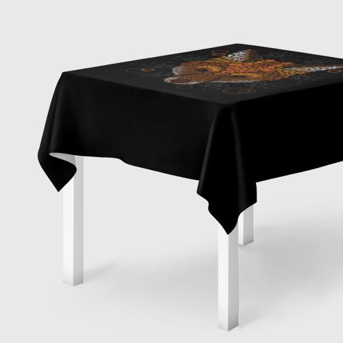 Скатерть 3D Лиса из Листьев Фото 01
