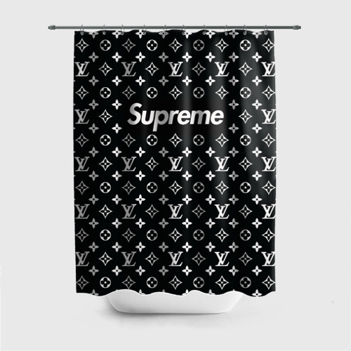 Штора 3D для ванной Supreme x Louis Vuitton Фото 01