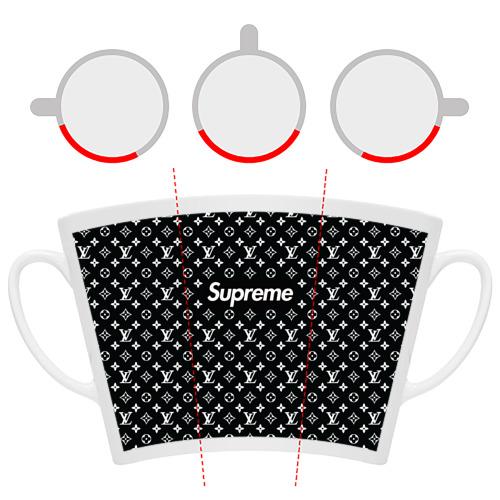 Кружка Латте Supreme x Louis Vuitton Фото 01