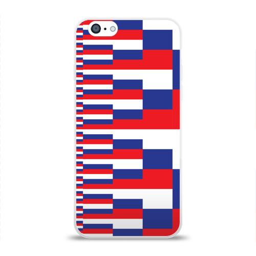 Чехол для Apple iPhone 6 силиконовый глянцевый Флаг России Фото 01