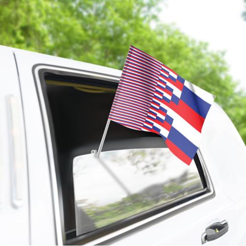 Флаг для автомобиля Флаг России Фото 01