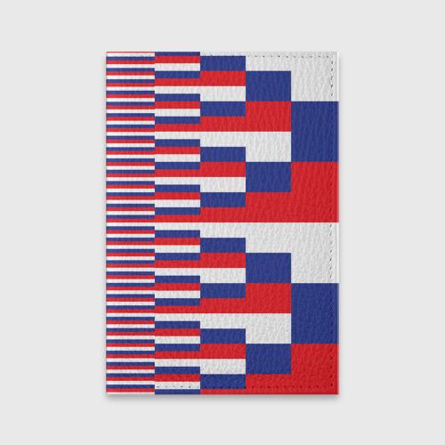 Обложка для паспорта матовая кожа Флаг России Фото 01