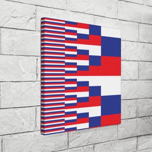 Холст квадратный Флаг России Фото 01