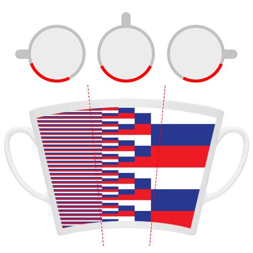 Кружка Латте Флаг России Фото 01