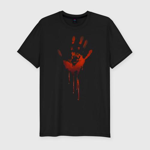 Мужская футболка премиум  Фото 01, Отпечаток руки
