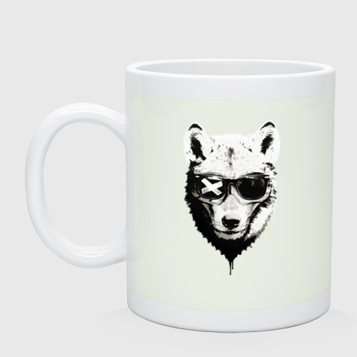 wolf with glasses