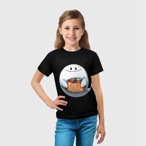 Детская футболка 3D  Фото 03, Be my Boo