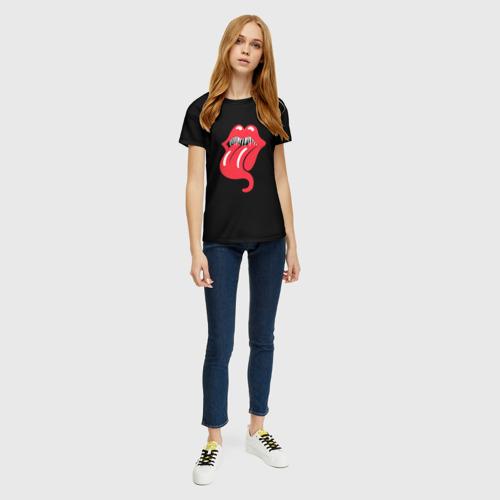 Женская футболка 3D Monsters Kiss Фото 01