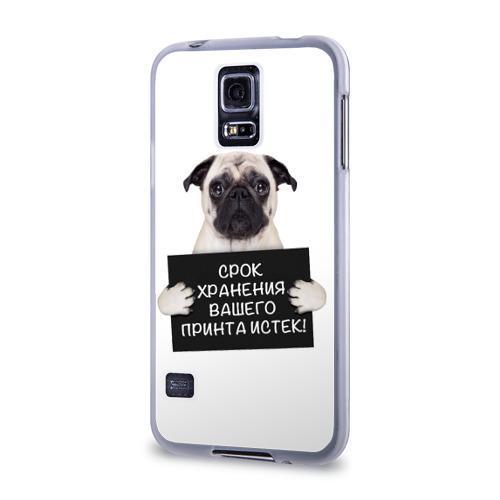 Чехол для Samsung Galaxy S5 силиконовый  Фото 03, мопсяу пз