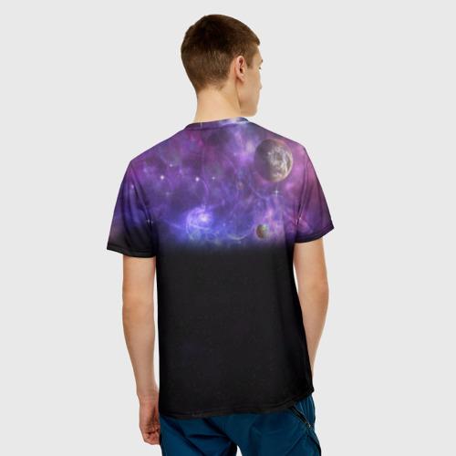 Elon Musk space Илон Маск (мужская футболка 3d с полной запечаткой) вид 2