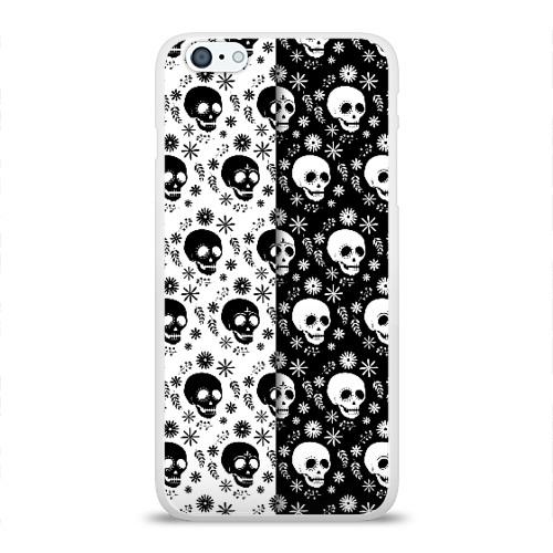 Чехол для Apple iPhone 6Plus/6SPlus силиконовый глянцевый  Фото 01, Скелеты на Хэллоуин