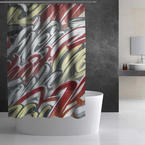 Штора 3D для ванной The Mind Фото 01