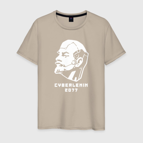 Мужская футболка хлопок Кибер-Ленин 2077 Фото 01