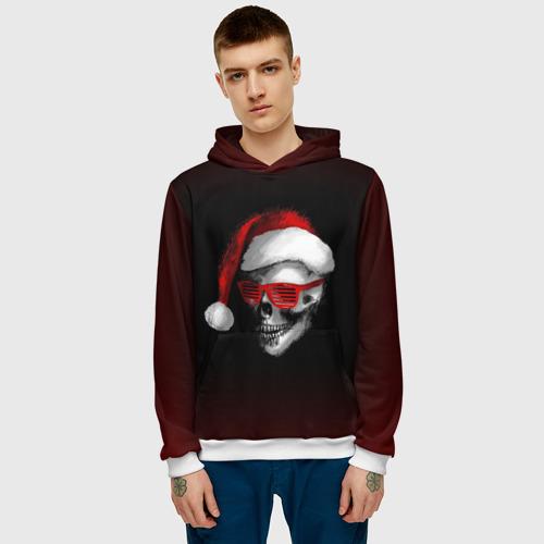 Мужская толстовка 3D  Фото 03, Santa Skull