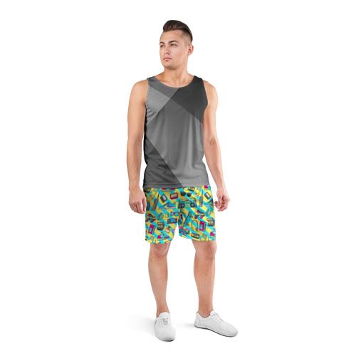 Мужские шорты 3D спортивные 80-е Фото 01