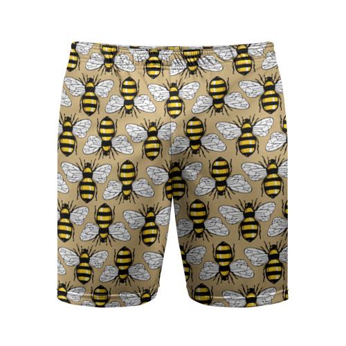 Мужские шорты 3D спортивные  Фото 01, Пчёлки