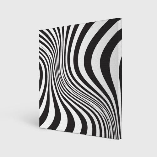 Холст квадратный 3D принт зебра Фото 01