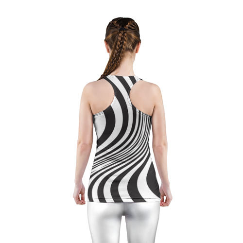 Женская майка 3D спортивная 3D принт зебра Фото 01