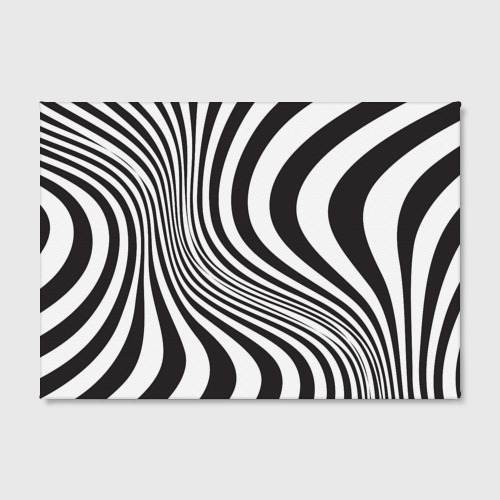 Холст прямоугольный 3D принт зебра Фото 01