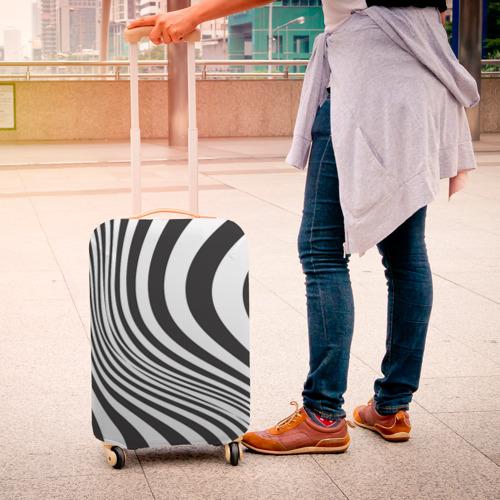 Чехол для чемодана 3D 3D принт зебра Фото 01