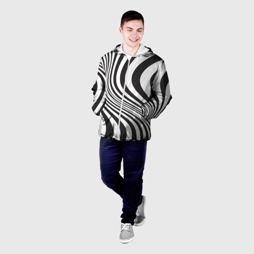 Мужская куртка 3D 3D принт зебра Фото 01