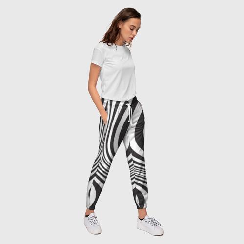 Женские брюки 3D 3D принт зебра Фото 01