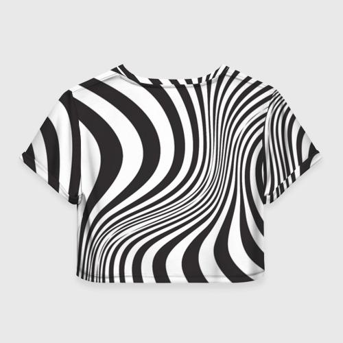 Женская футболка Crop-top 3D 3D принт зебра Фото 01