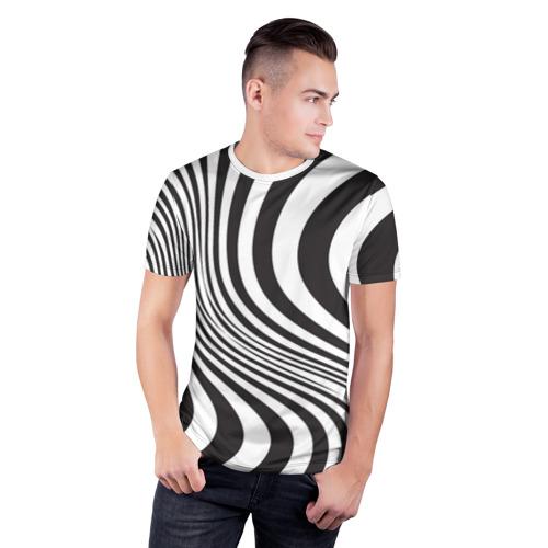Мужская футболка 3D спортивная 3D принт зебра Фото 01