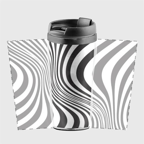 Термокружка-непроливайка 3D принт зебра Фото 01