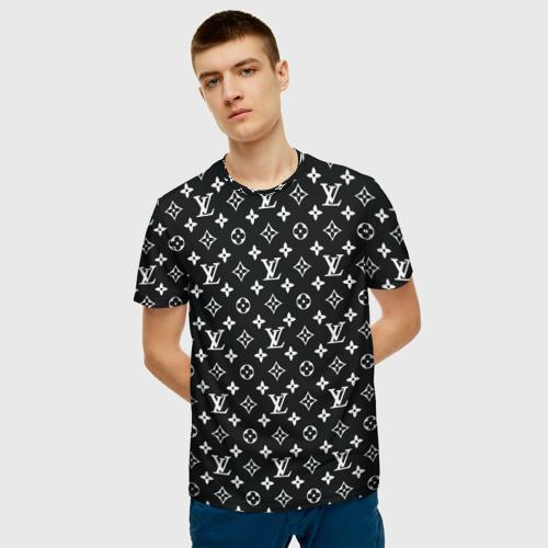 Мужская футболка 3D Louis Vuitton Black Фото 01