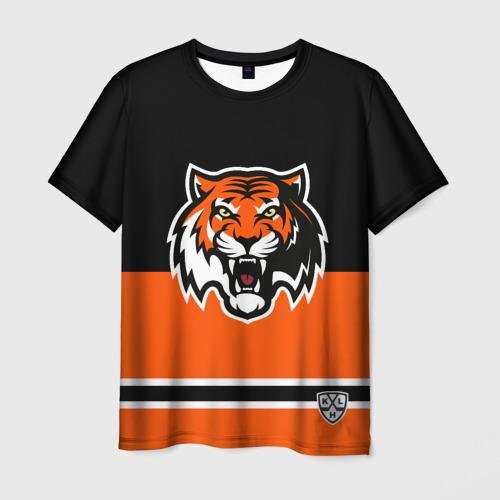 "Мужская футболка 3D ХК \""Амур\"" Тигр 2"