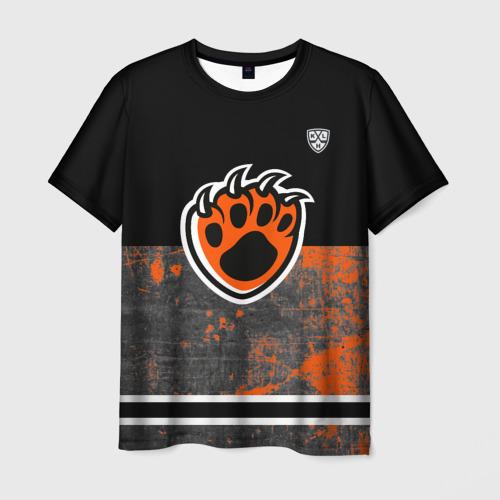 """Мужская футболка 3D ХК \""""Амур\"""" лапа тигра"""