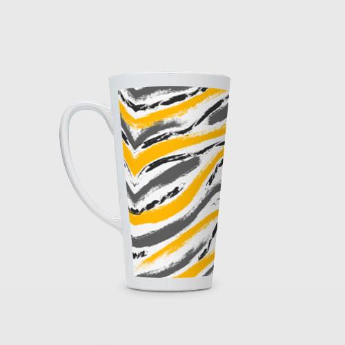 Кружка Латте Серый-желтый