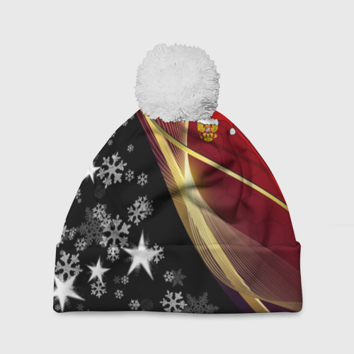 Шапка 3D c помпоном  Фото 01, Новогодний герб