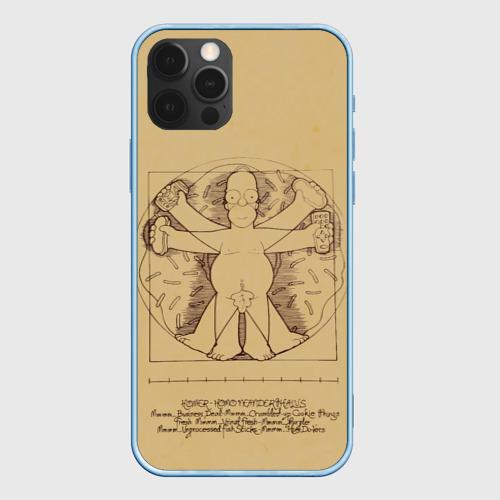 Чехол для iPhone 12 Pro Гомер Да Винчи Фото 01