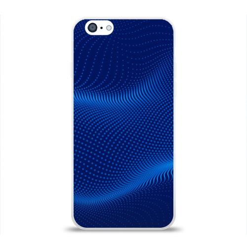 Чехол для Apple iPhone 6 силиконовый глянцевый  Фото 01, Синие волны